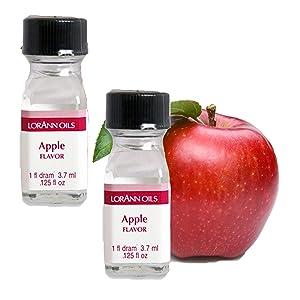 LorAnn Apple Super StrengthFlavor, 1 dram bottle (.0125 fl oz - 3.7ml) 2 pack