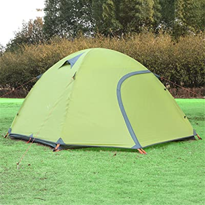RFVBNM 3-4 double tente d'escalade en plein air ultra léger étanche en alliage d'aluminium sauvage camping tente tente de plage