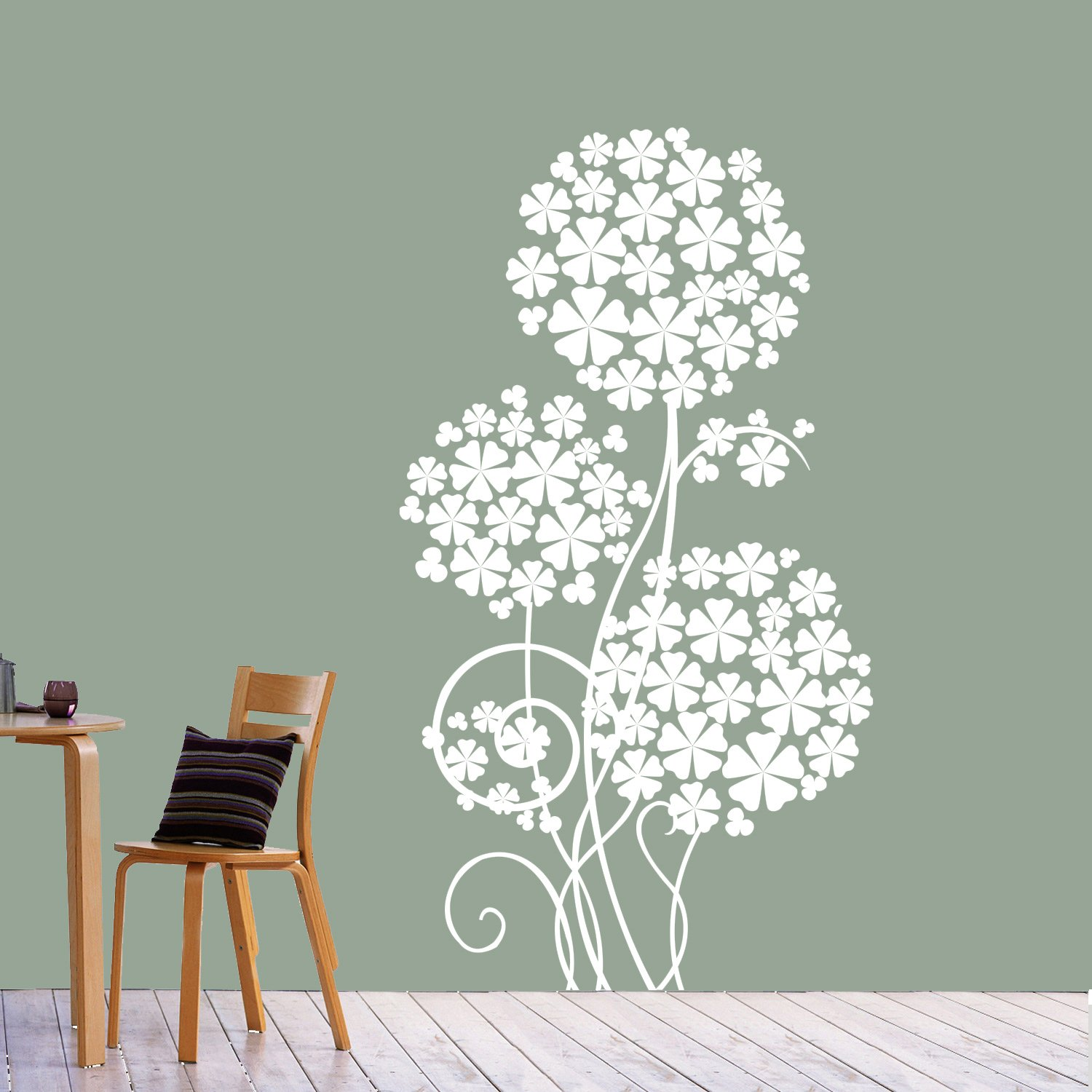 Buy Creative Width Flower Tree Wall Sticker Decal White Online At Wallpaper 42 Low Prices In India