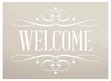 amazon com welcome stencil by studior12 reusable mylar template