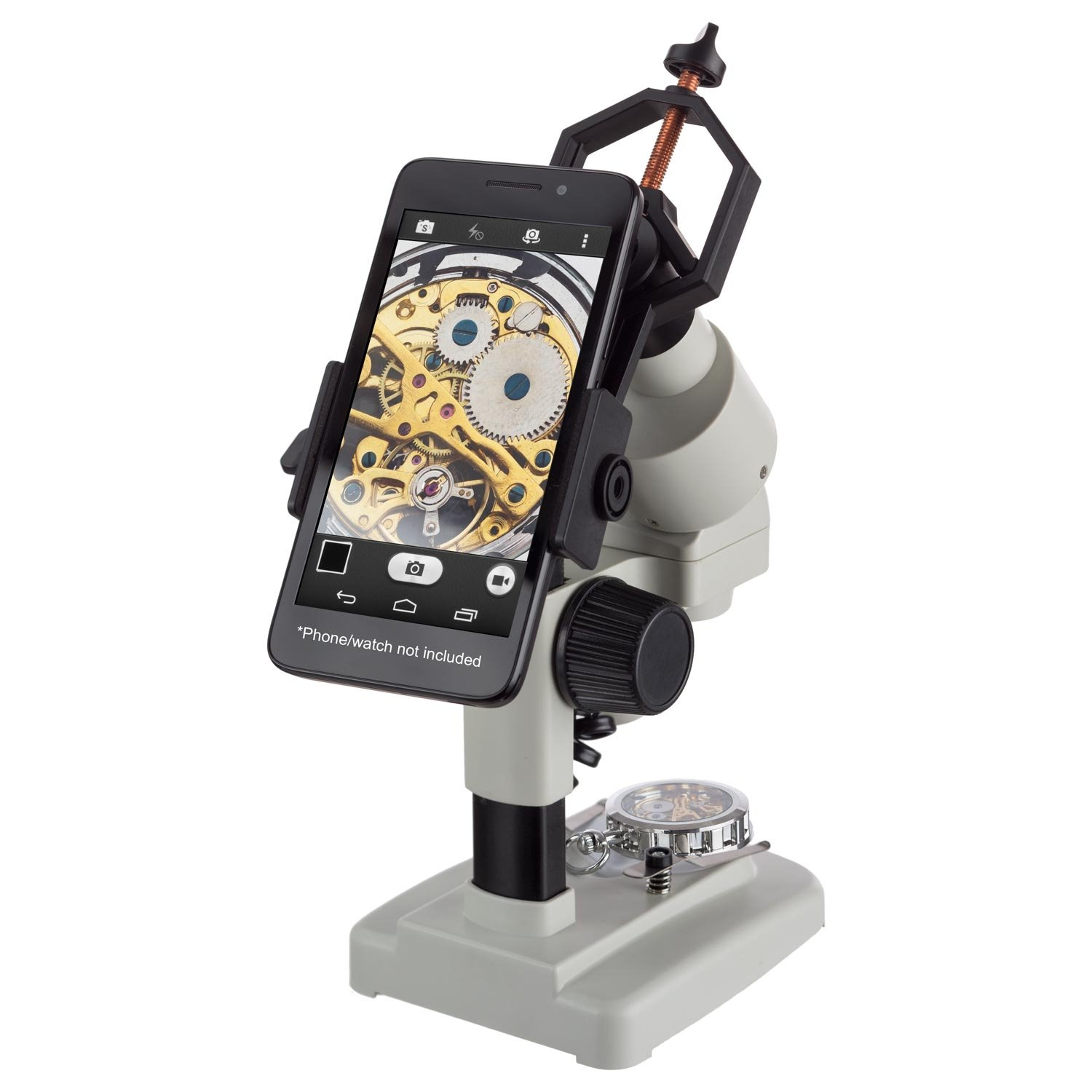 AMSCOPE-KIDS 20X 40X Cordless LED Portable Stereo Microscope with Smartphone Holder