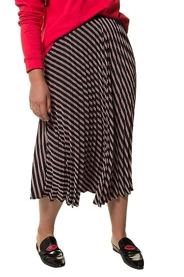 d331d4298e3f9 Studio Untold Women s Plus Size Diagona Stripe Pleated Skirt 718726  Studio  Untold  Amazon.co.uk  Clothing