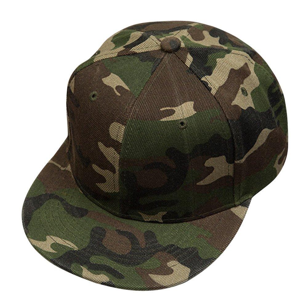 Chinatera Unisex Men Women Adjustable Camouflage Snapback Hip-hop Hat Baseball Cap
