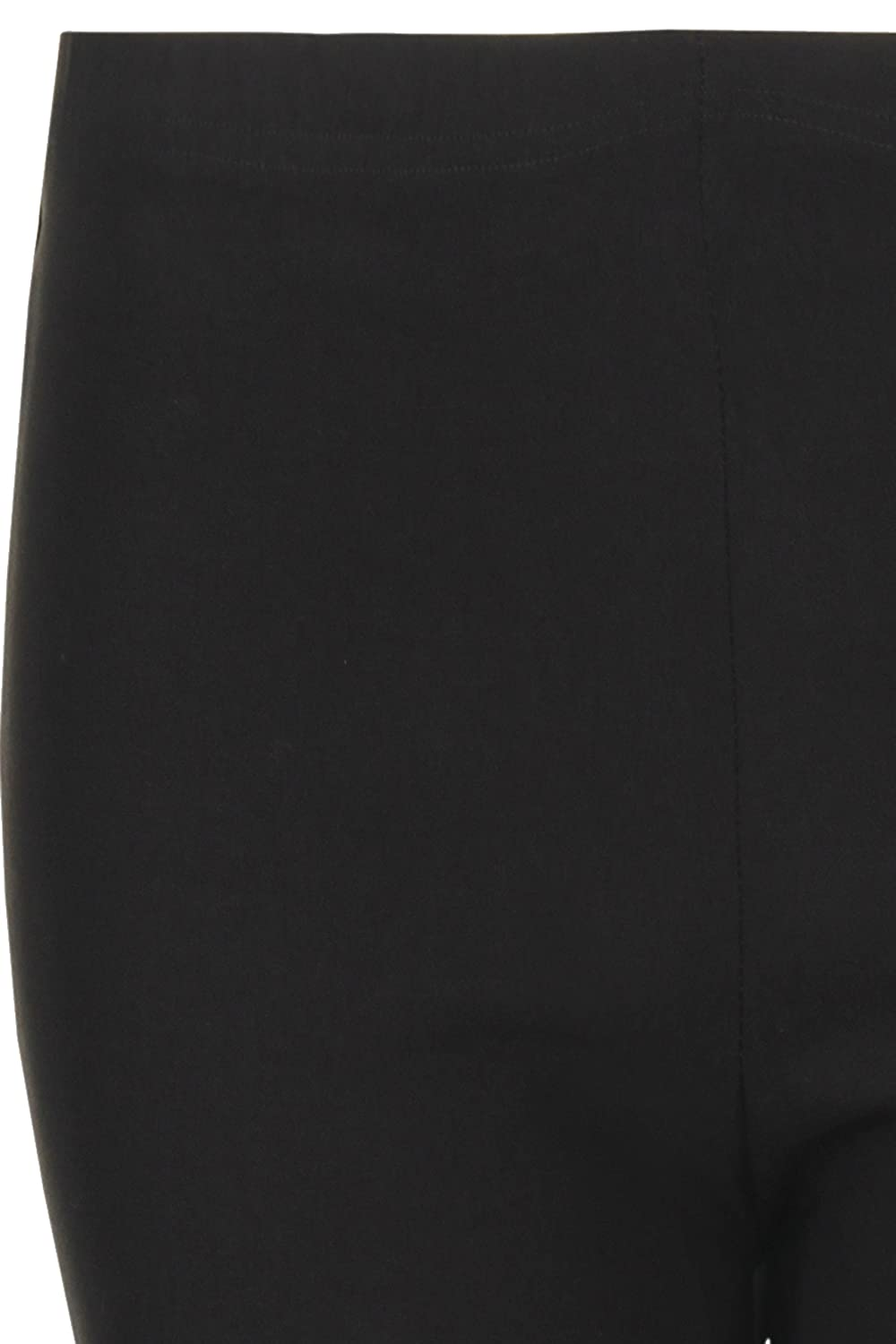Get The Trend Girls Black School Trousers Kids Age 6-13 Pull Up Stretch Plain Pants Trousers