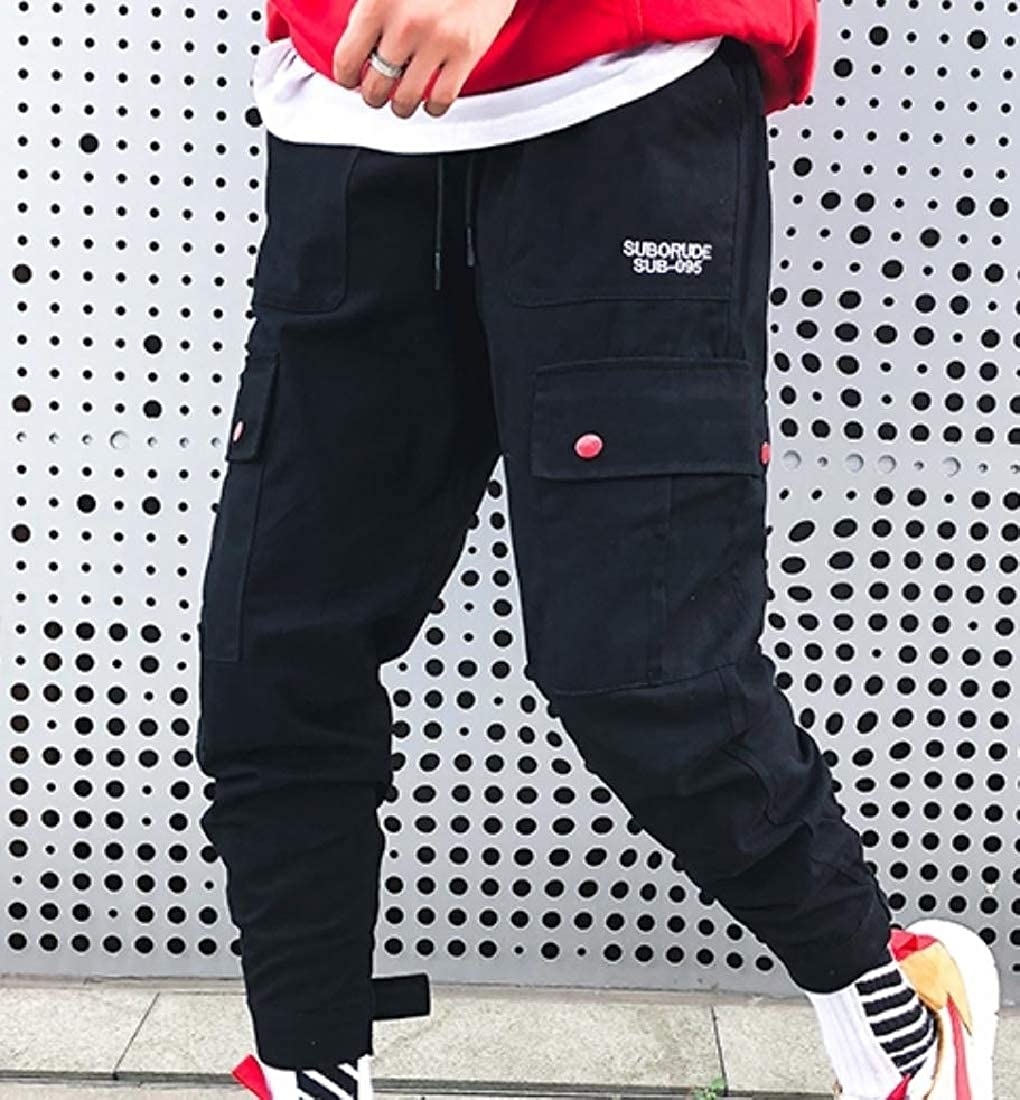 Mens Harem Camouflage Casual Trousers Oversized Print Cargo Pants