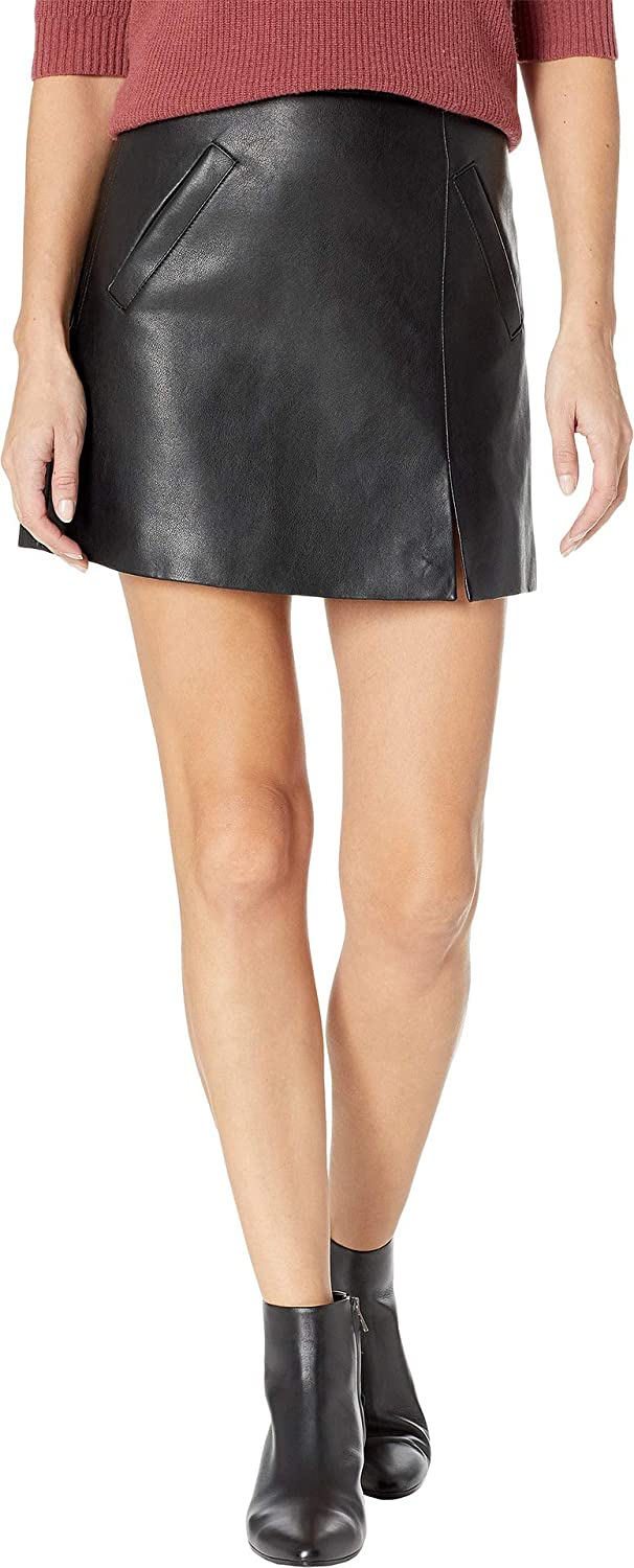 4243ebdfb54295 Blank NYC Womens Vegan Leather Mini Skirt in Latch On at Amazon Women's  Clothing store: