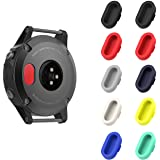 Garmin Fenix 5 / 5S / 5X / Forerunner 935 Dust Plug, MoKo [10 PACK] Soft Silicone Charger Port Protector Anti Dust Plugs Caps for Garmin Fenix 5 / 5S / 5X / Forerunner 935 Smart Watch, Multi Colors