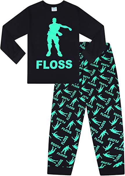 Floss Dance Gaming Black Green Cotton short Pyjamas