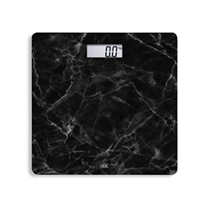 ADE Báscula de baño digital BE 1712 Aurora. Look Marmor negro. Electrónica en vidrio