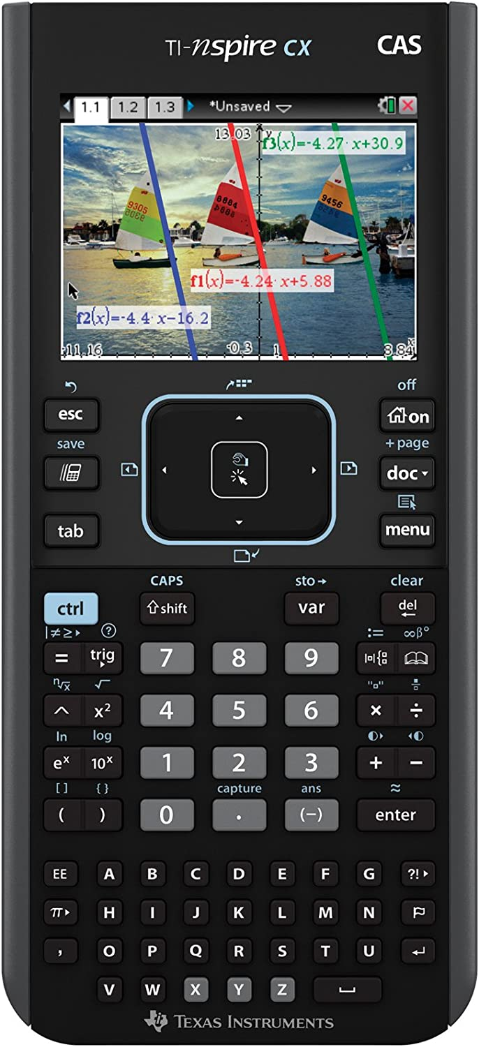 Amazon Com Texas Instruments Nspire Cx Cas Graphing Calculator Ti Nspire Cx Cas Office Products