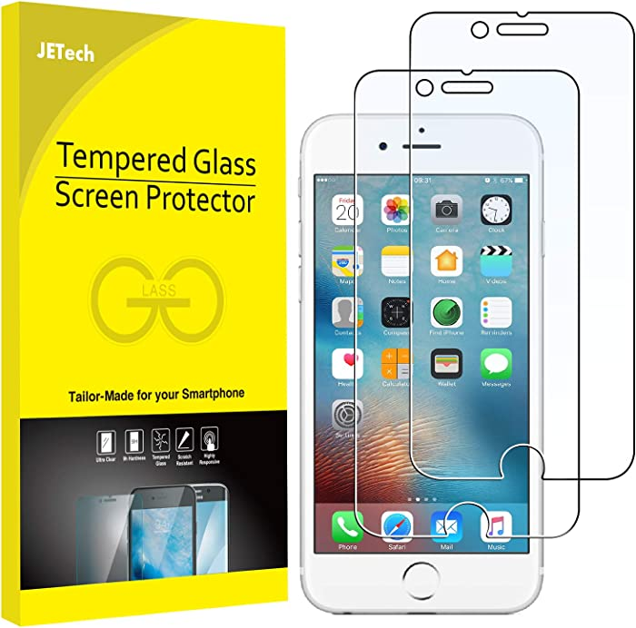 JETech Screen Protector for Apple iPhone 6 Plus and iPhone 6s Plus, 5.5-Inch, Tempered Glass Film, 2-Pack