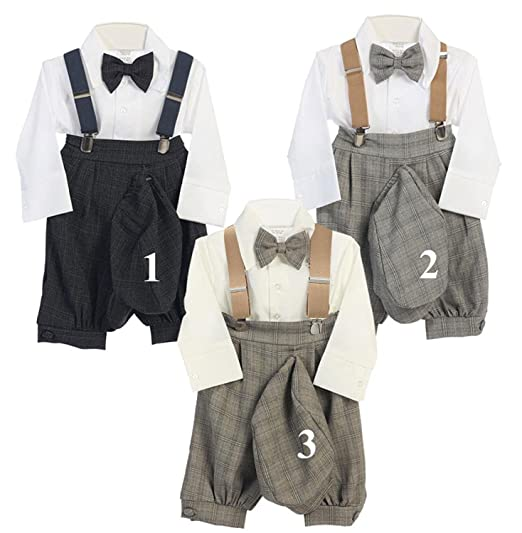 02a1ce77d Amazon.com  AMK Baby Toddler Boys Vintage 5-Piece Suspender Bowtie ...