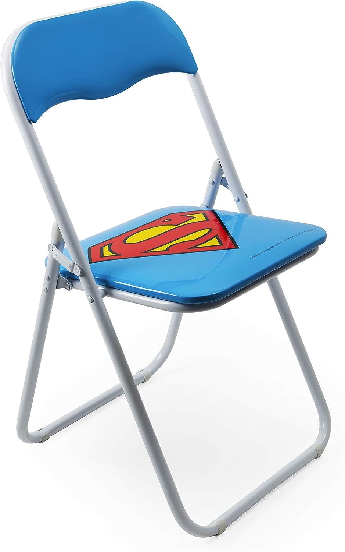 Excelsa Superhéros Chaise Pliante Superman, métal, Bleu, Hauteur de l'assise : 80 cm
