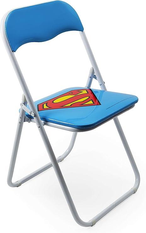 Excelsa Superhelden Klappstuhl Superman, Metall, hellblau, Sitzhöhe: 80 cm