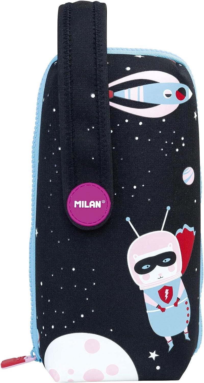 Milan Kit 4 Estuches con Contenido Super Heroes Space 1 Estuches, 22 cm, Rosa: Amazon.es: Equipaje