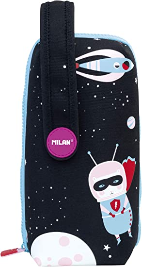 Milan Kit 4 Estuches con Contenido Super Heroes Space 1 Estuches, 22 cm, Rosa: Amazon.es: Equipaje