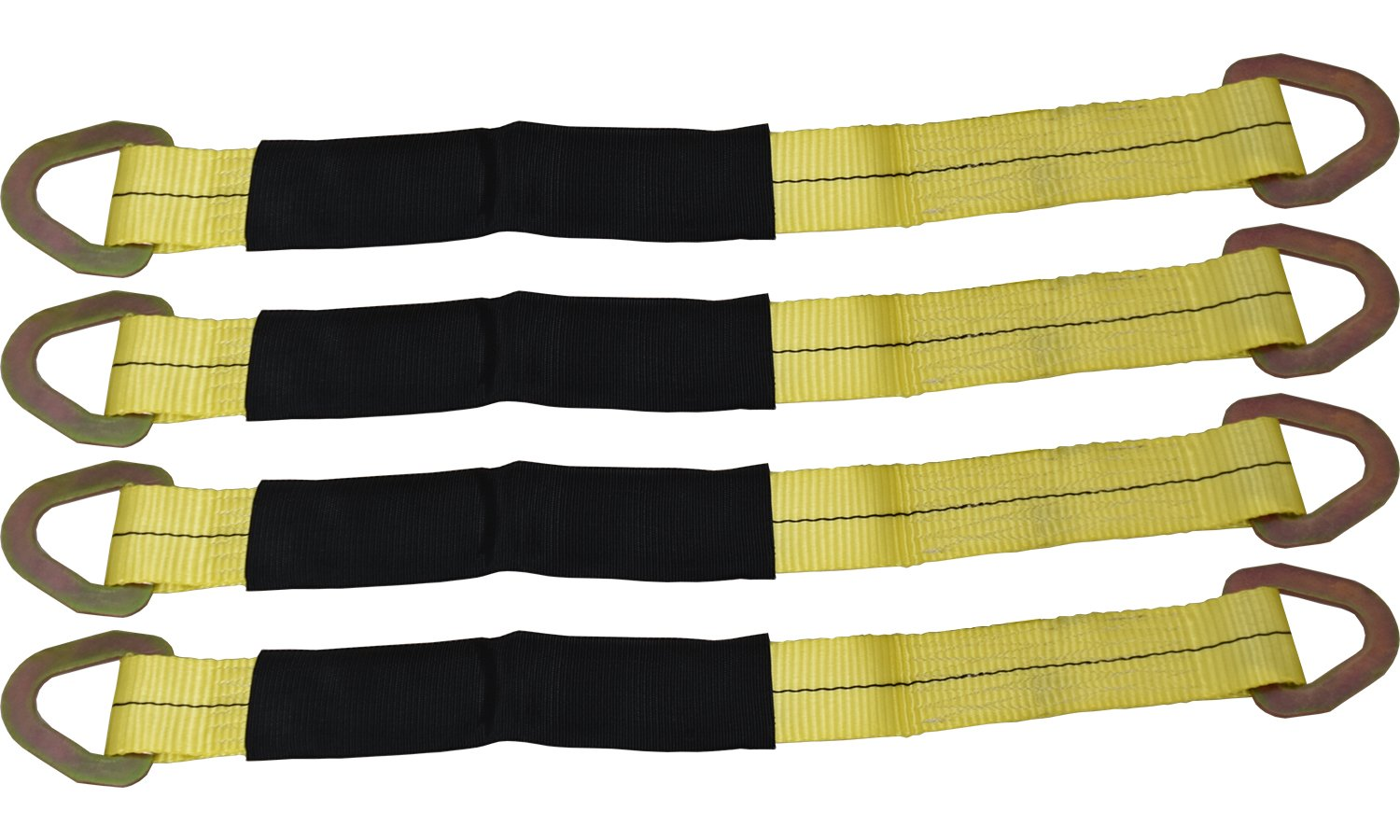 4 Yellow 24'' Axle Straps Auto Car Hauler Tie Downs Tow Wrecker by GPD