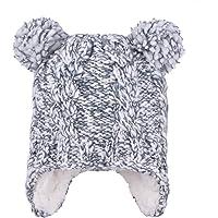 Eriso Baby Toddler Boy Winter Hat Hooded Snow Scarf Fleece Earflap
