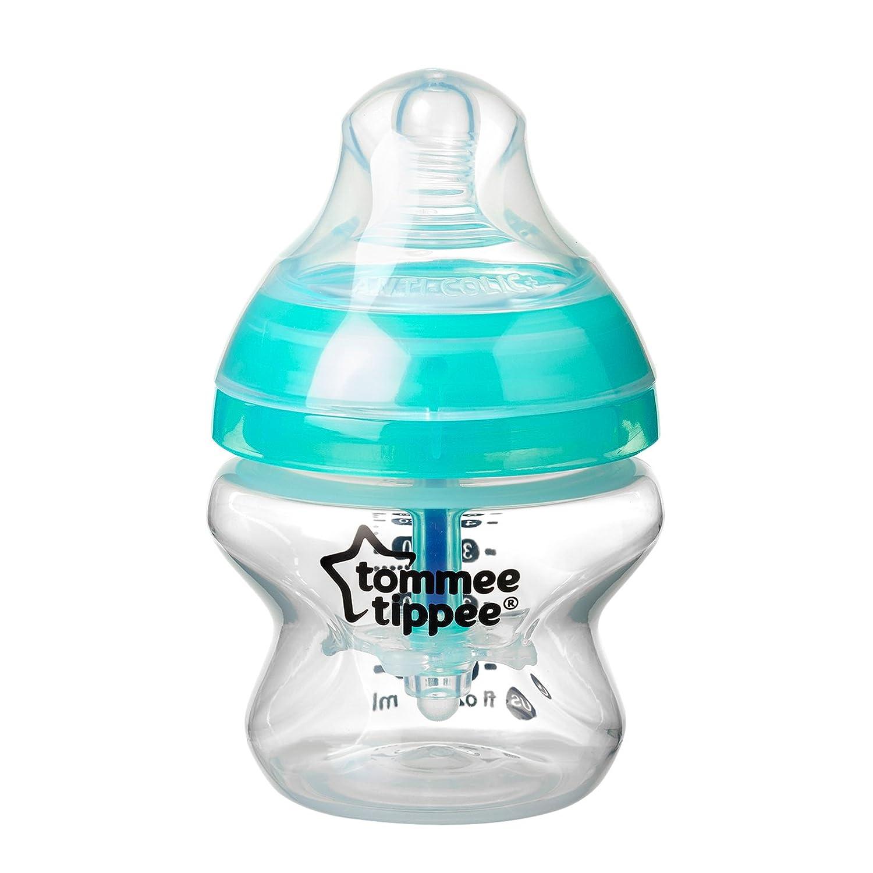 زجاجة الرضاعة المتطورة المضادة للمغص من تومي تيبي، 150 مل – لون شفاف/ أخضر