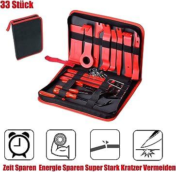 Queta 33 Stück Auto Demontage Werkzeuge Und Kfz Kabel Stecker Ausbau Werkzeug Zierleistenkeile Verkleidungs Reparatur Werkzeuge Auto