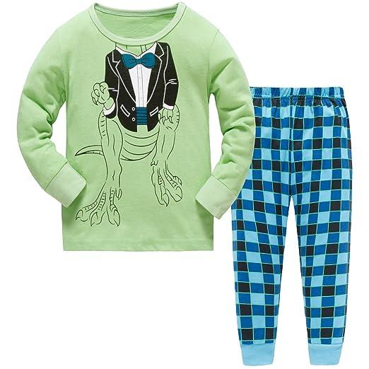 4de0ed252b06 Amazon.com  Hugbug Toddler Boys Super Cute Robot Heart Pajama Set 2 ...