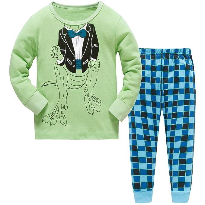 Hugbug Toddler Boys Cute Dinosaur Pyjamas Set 2-7 Years  Amazon.co.uk   Clothing 85521717e