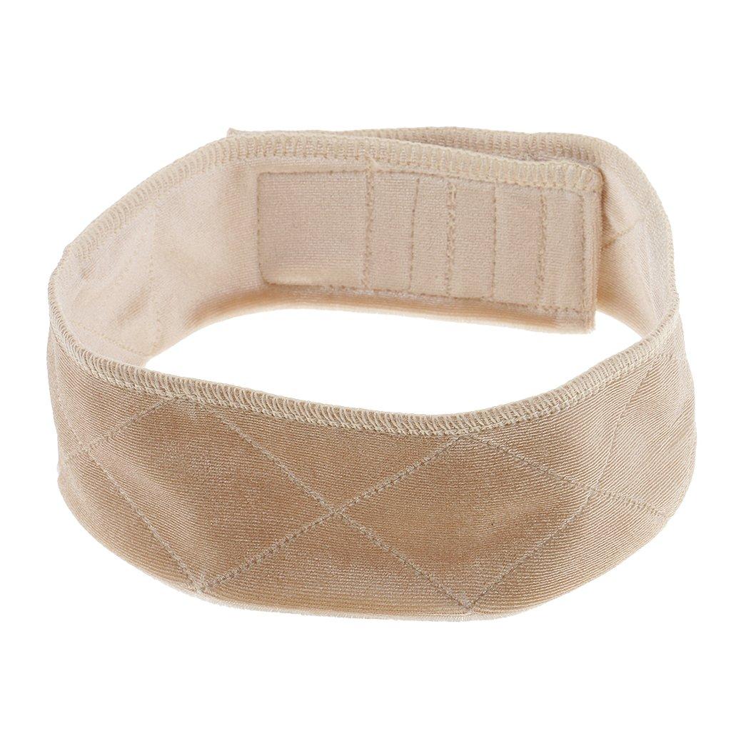 MagiDeal Comfort Flexible Adjustable Velvet Wig Grip Scarf Head Hair Band Wiggery Fastern Wrap - Beige