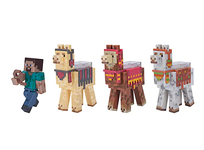 Amazon Com Minecraft Steve With Llama Caravan Exclusive Pack Clothing
