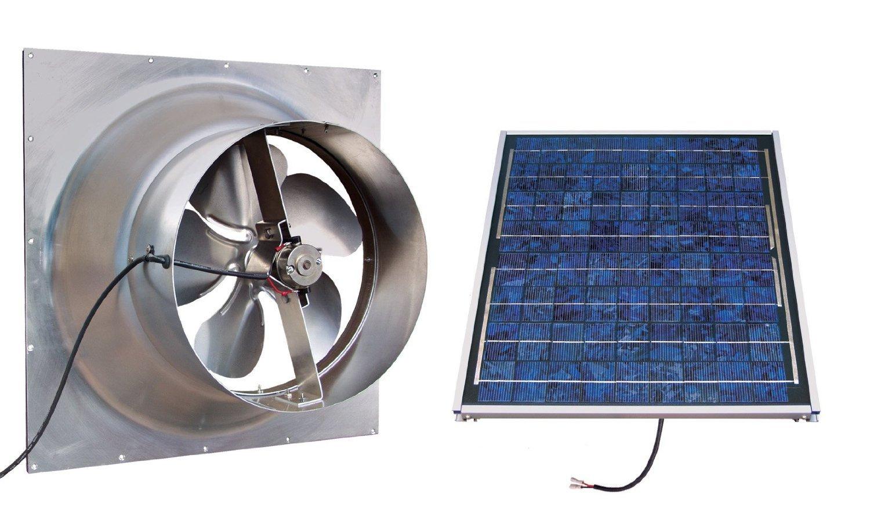 Gable Mounted Solar Attic Fan - 24 Watts - 2100 sq ft