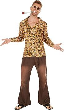 TecTake Disfraz de Hippie John para Hombre | Camisa Retro de ...