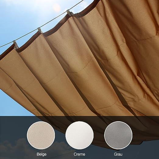 Balkontex Toldo Roma 140 x 270 cm Gris Pergola Cuerda toldos ...