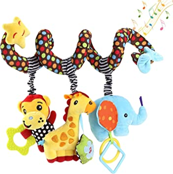 willway Baby Hanging Toys Infant Baby Spiral Plush Toys for Crib Bed Stroller