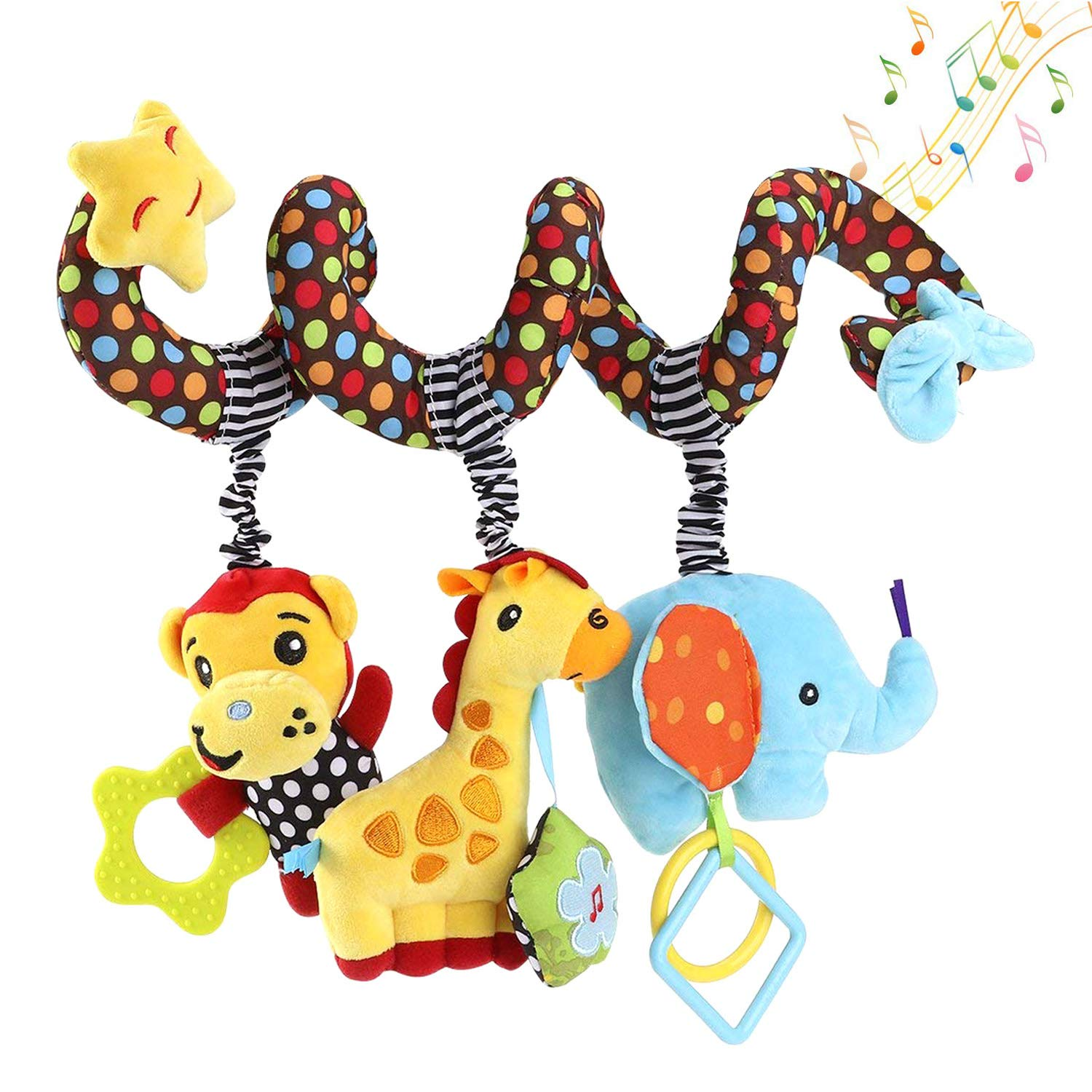 Hanging Toys for Car Seat Crib Mobile, willway Infant Baby Spiral Plush Toys for Crib Bed Stroller Car Seat Bar