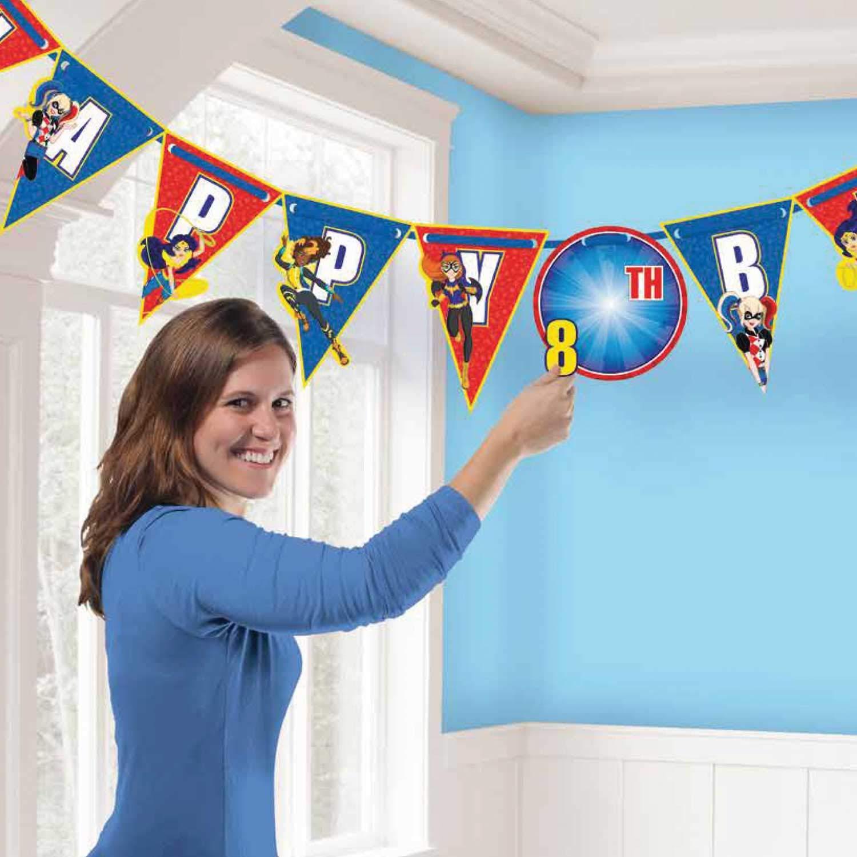 Birthday Ribbon Letter Banner DC Super Hero Girls Collection
