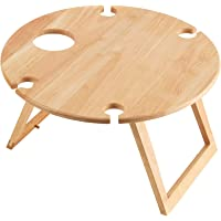 Stanley Rogers Round Travel Picnic Table Light Wood