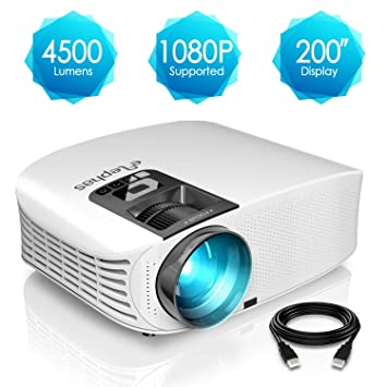 Proyector HD, ELEPHAS 1080P LCD Video proyector Full HD con 4500 ...