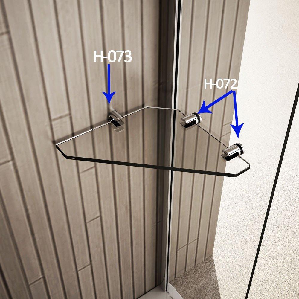 100x140cm Duschabtrennung Badewannenfaltwand Duschwand Badewannenaufsatz Sicherheitsglas mit Handtuchhalter Eckregal Aica Sanitär GmbH C2S-H