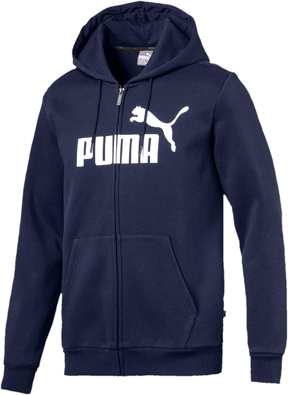 TALLA XL. PUMA ESS FZ Hoody FL Big Logo Sweatshirt, Hombre