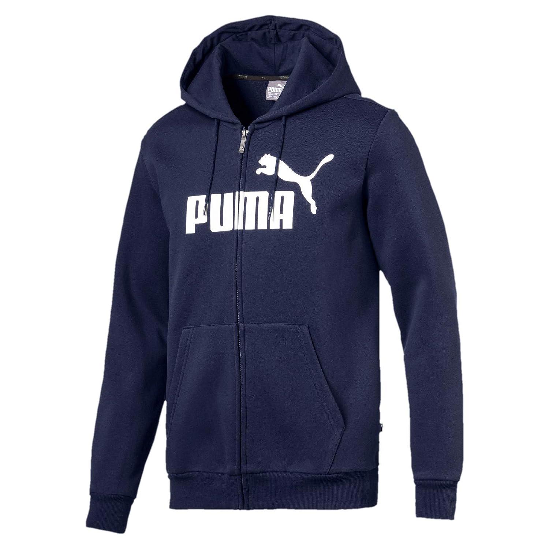 PUMA ESS FZ Hoody FL Big Logo Sweatshirt, Hombre