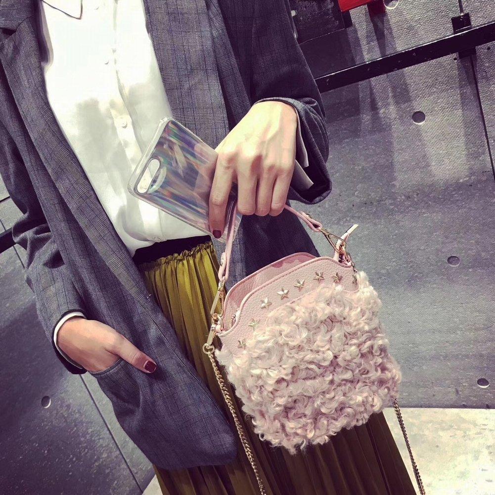 cd30c5fa36 ... YTTY Femmina in nylon colore colore colore puro cerniera Tasca singola  borsa a tracolla personalizzata pelliccia ...