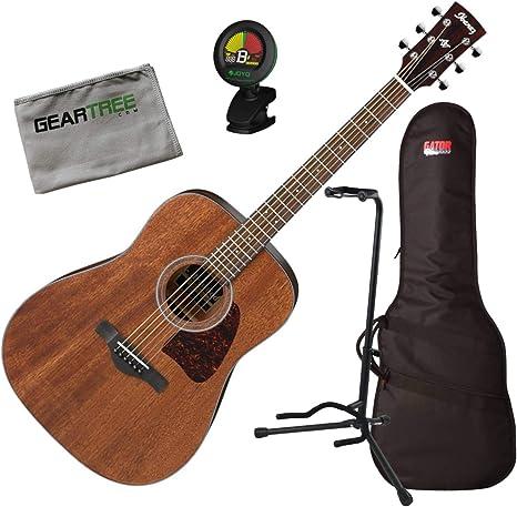Ibanez AW54OPN AW Artwood - Guitarra acústica con bolsa, afinador ...