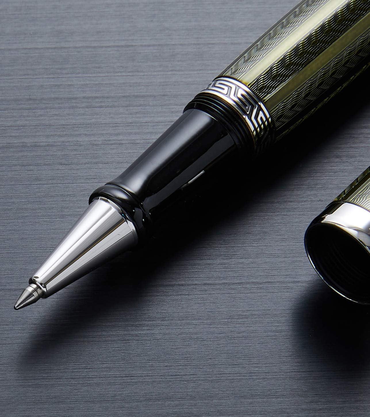 couleur tanzanite Length posted-158 mm; dia-13 mm; weight-62 grams Moldavite Xezo Maestro LeGrand Stylo /à bille fine plaqu/é platine