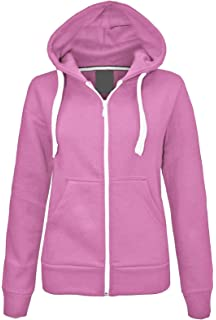 Charcoal Purple New in Unisex Kids Girls Boys Plain Fleece Zip-up Hoodie Hoody Sweatshirt top Ages 1-13 Available in Black Royal Blue and Wine Hot Pink Navy