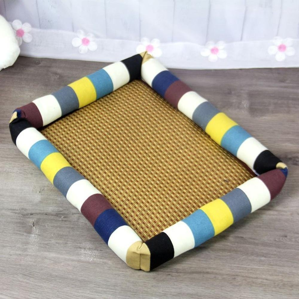 B 6555cm B 6555cm WUTOLUO Pet Bolster Dog Bed Comfort Breathable Pet nest (color   B, Size   65  55cm)