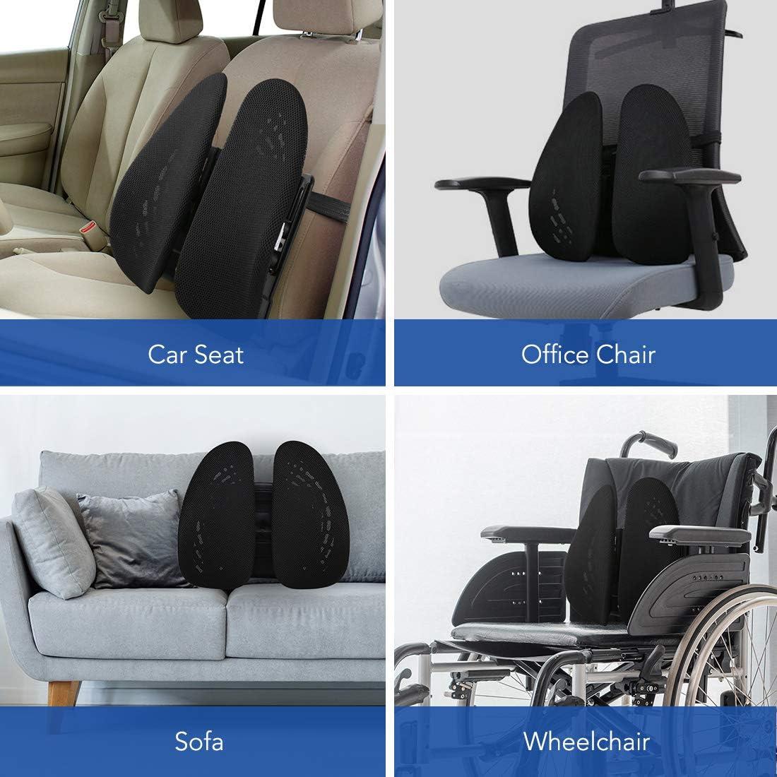 Camion Support Dorsal pour Chaise de Bureau Voiture FLEXISPOT LS1B Coussin Lombaire Conception de correcteur de Posture pour Le soulagement des douleurs lombaires /… Avion