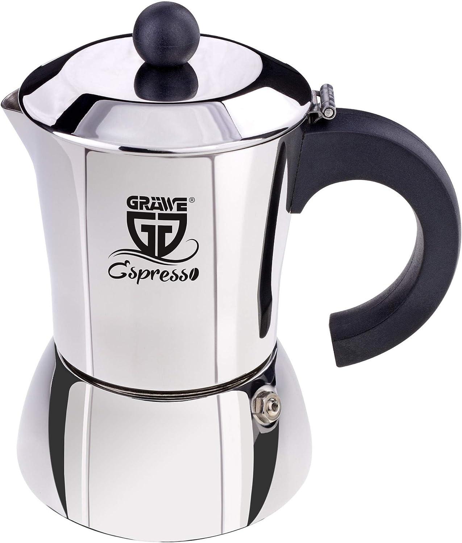 GRÄWE – Cafetera de Acero Inoxidable (0% Aluminio), Volumen Aprox ...