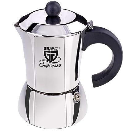 GRÄWE - Cafetera de Acero Inoxidable (0% Aluminio), Volumen ...