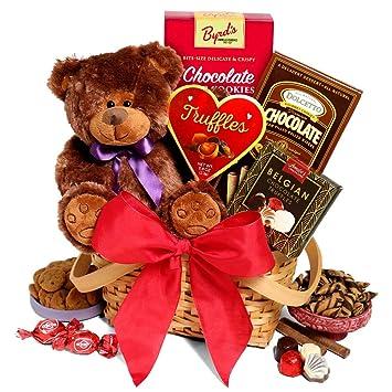 8b442e73f5a58 Amazon.com   Teddy Bear   Chocolates Gift Basket - Valentines Day ...