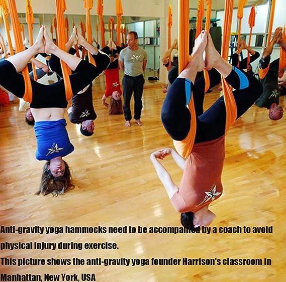 Yujia Hamaca Yoga Arnés Hamaca No Elástica Cuerda De Tracción De ...