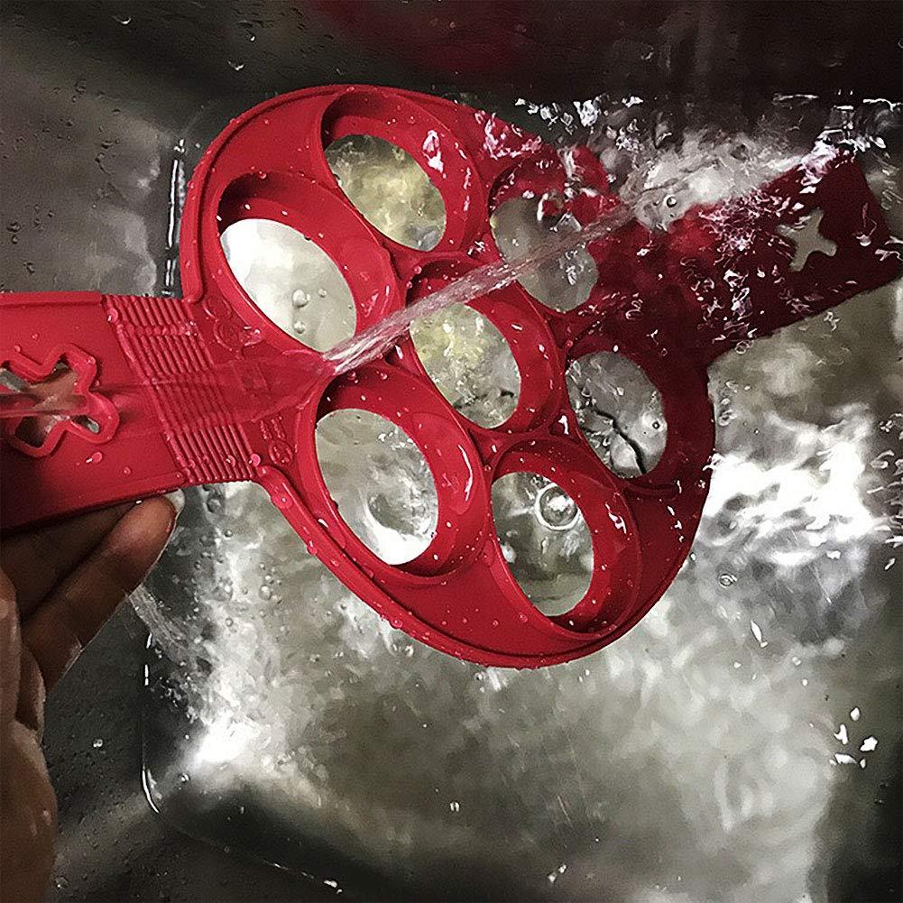 per decorare le uova Red Stampi per pancake in silicone antiaderente lavabile in lavastoviglie Renendi